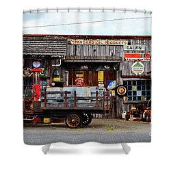 1930s Gas Station And Garage Shower Curtain
