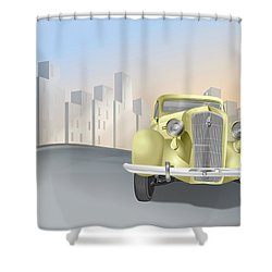 1930's Plymouth Sedan Shower Curtain by Marty Garland