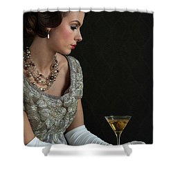 1930s Woman With A Cocktail Glass Shower Curtain