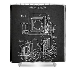1931 Camera Patent - Charcoal Shower Curtain