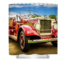 1931 Mack - Heber Valley Fire Dept. Shower Curtain