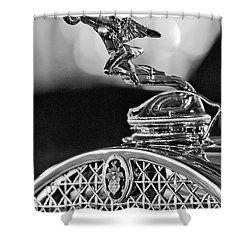 1931 Packard Convertible Victoria Hood Ornament 2 Shower Curtain by Jill Reger