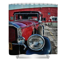 Shower Curtain featuring the photograph 1931 Pierce Arow 3473 by Guy Whiteley