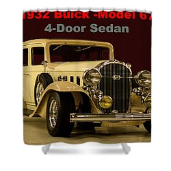 1932 Buick 4door Sedan Shower Curtain by B Wayne Mullins