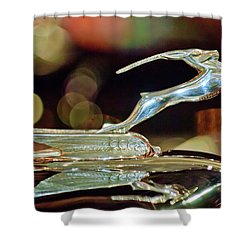 1932 Chrysler Imperial Hood Ornament 1 Shower Curtain by Jill Reger