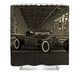 1932 Ford Pickup Rat Rod Shower Curtain