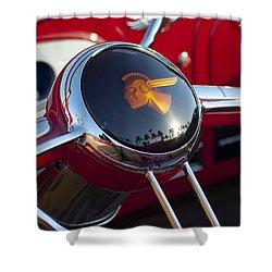 1933 Pontiac Steering Wheel Shower Curtain by Jill Reger