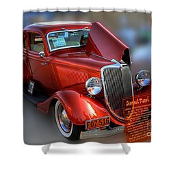 Shower Curtain featuring the photograph 1934 Ford Coupe by Dyle   Warren