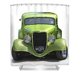 1934 Ford Street Hot Rod On A Transparent Background Shower Curtain