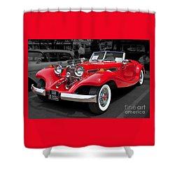 1934 Mercedes 500k Cabriolet Shower Curtain