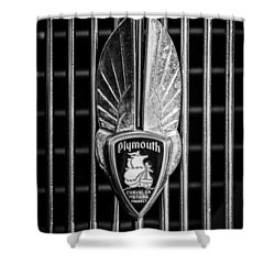 1934 Plymouth Emblem 2 Shower Curtain by Jill Reger