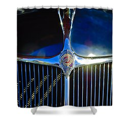 1935 Chrysler Hood Ornament 2 Shower Curtain by Jill Reger