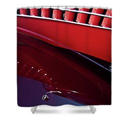 Shower Curtain featuring the photograph 1935 Ford V8 Hotrod by Jani Freimann