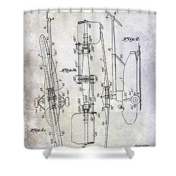 1935 Helicopter Patent  Shower Curtain