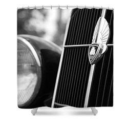 1935 Plymouth Emblem - Chrysler Motors Product Shower Curtain by Gordon Dean II