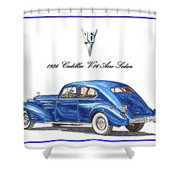 1936 Cadillac V-16 Aero Coupe Shower Curtain by Jack Pumphrey