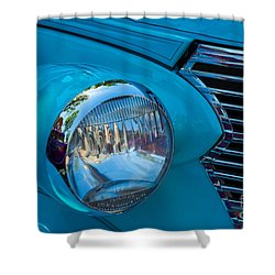 1936 Chevy Coupe Headlight And Grill Shower Curtain