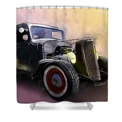 1936 Chevy Rat Rod Pickup Watercolour Shower Curtain