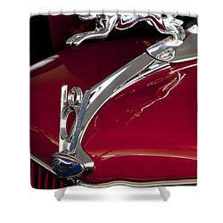 1936 Ford 68 Pickup Hood Ornament Shower Curtain by Jill Reger