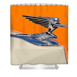 Shower Curtain featuring the photograph 1936 Packard Hood Ornament by Aloha Art