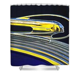 1936 Pontiac Hood Ornament Shower Curtain by Jill Reger