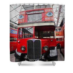 1937 Aec Regent I Bus Stl2377 Shower Curtain