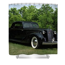 1937 Cadillac V16 Fleetwood Stationary Coupe Shower Curtain by Tim McCullough