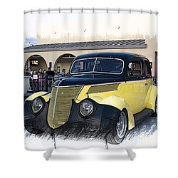 1937 Ford Deluxe Sedan_a2 Shower Curtain