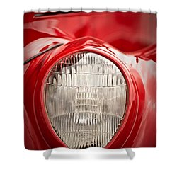 1937 Ford Headlight Detail Shower Curtain