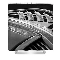 1938 Plymouth Hood Ornament 2 Shower Curtain by Jill Reger