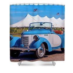 1939 Bantam Roadster Shower Curtain by Ken Morris
