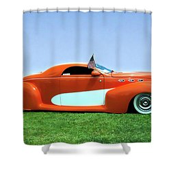 1939 Lincoln Zephyr Coupe Shower Curtain