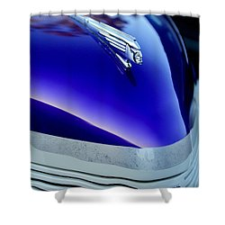 1939 Pontiac Coupe Hood Ornament 3 Shower Curtain by Jill Reger
