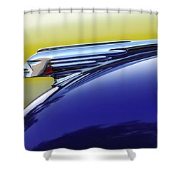 1939 Pontiac Coupe Hood Ornament Shower Curtain by Jill Reger