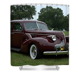 1939 Buick Roadmaster Formal Sedan Shower Curtain by Tim McCullough