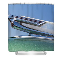 1940 Chevrolet Hood Ornament Shower Curtain