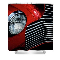 Shower Curtain featuring the photograph 1940 Chevy 2-door by Eric Christopher Jackson