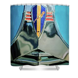 1940 Dodge Business Coupe Emblem Shower Curtain by Jill Reger