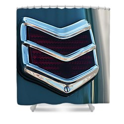 1940 Ford Deluxe Coupe Duo Lamp Tail Light 2 Shower Curtain by Jani Freimann