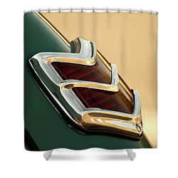 Shower Curtain featuring the photograph 1940 Ford Deluxe Coupe Duo Lamp Tail Light by Jani Freimann