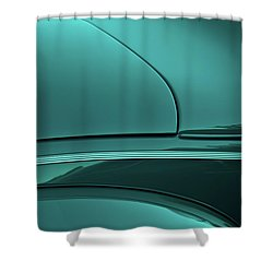 1940 Ford Deluxe Coupe Curves Shower Curtain by Jani Freimann
