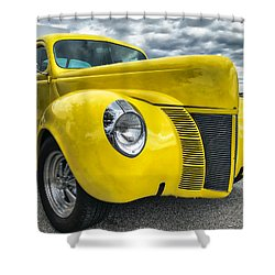 Shower Curtain featuring the photograph 1940 Ford Deluxe Coupe by Mark Guinn