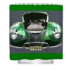 Shower Curtain featuring the photograph 1940 Ford by JoAnn Lense