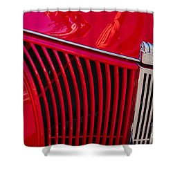 1940 Ford Pickup Grill Shower Curtain