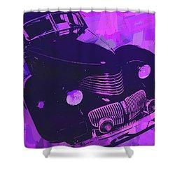 1940 Hupp Skylark Violet Pop Shower Curtain