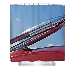 1940 Lasalle Hood Ornament Shower Curtain