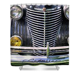 1940s Caddie Full Frontal Oh La La Shower Curtain by John S