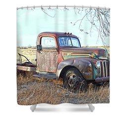 1940s Ford Farm Truck Shower Curtain