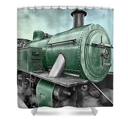 1940's Steam Train Shower Curtain by Marty Garland