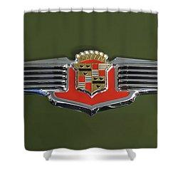 1941 Cadillac 62 Emblem Shower Curtain by Jill Reger
